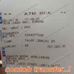 Contoh Rekening Transfer